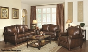 Montbrook Brown Leather Sofa and Loveseat Set