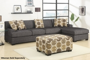 Montreal III Grey Fabric Sectional Sofa