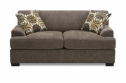 Montreal V Beige Fabric Loveseat