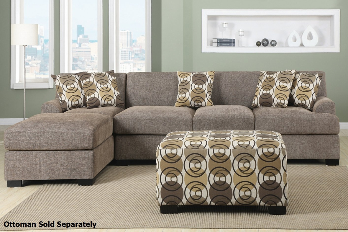 Beige Fabric Sectional Sofa Steal A Sofa Furniture