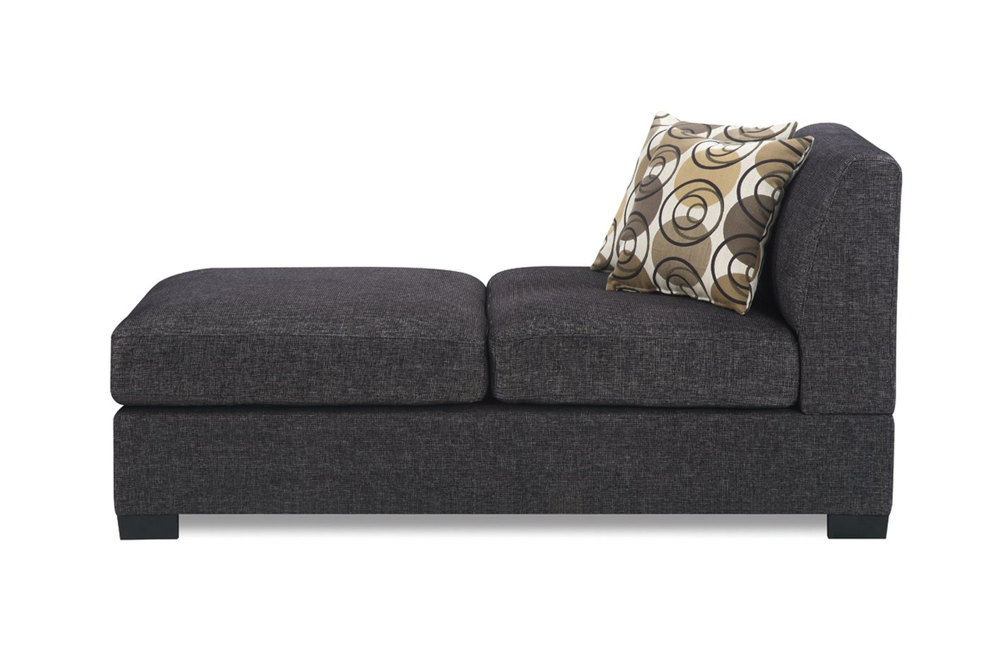 Grey Fabric Chaise Lounge Steal A Sofa Furniture Outlet Los