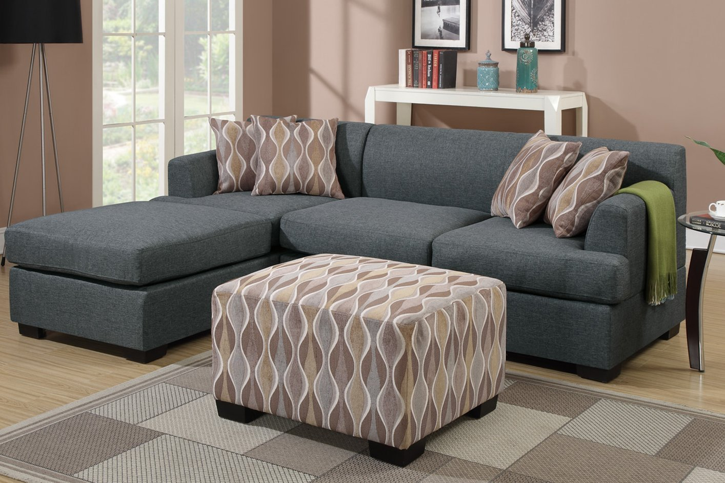 Montreal grey fabric sofa and loveseat set steal a sofa for Fabric couches for sale