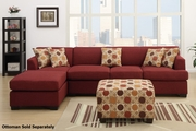 Montreal III Red Fabric Sectional Sofa