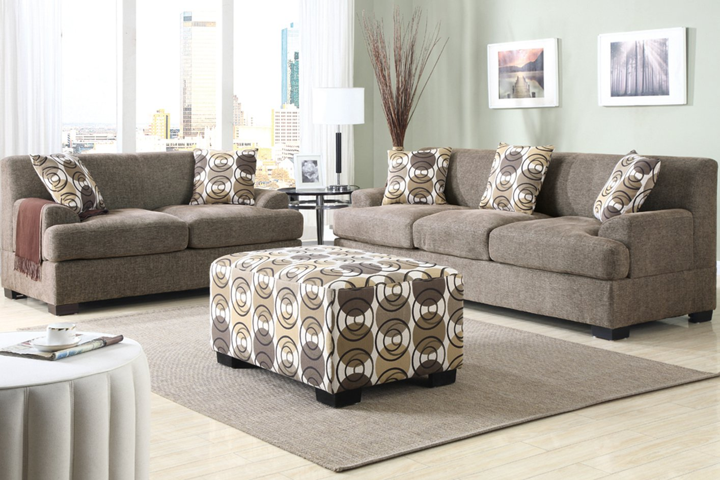 loveseat chair sofa microfiber and new simmons set navy diamond ottoman tobias weave