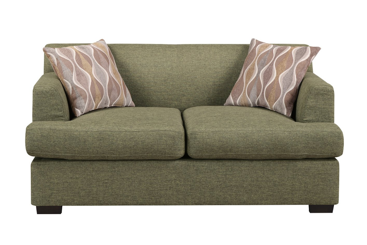 Poundex Montreal V F7977 Green Fabric Loveseat Steal A Sofa Furniture Outlet Los Angeles Ca