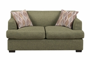 Montreal V Green Fabric Loveseat