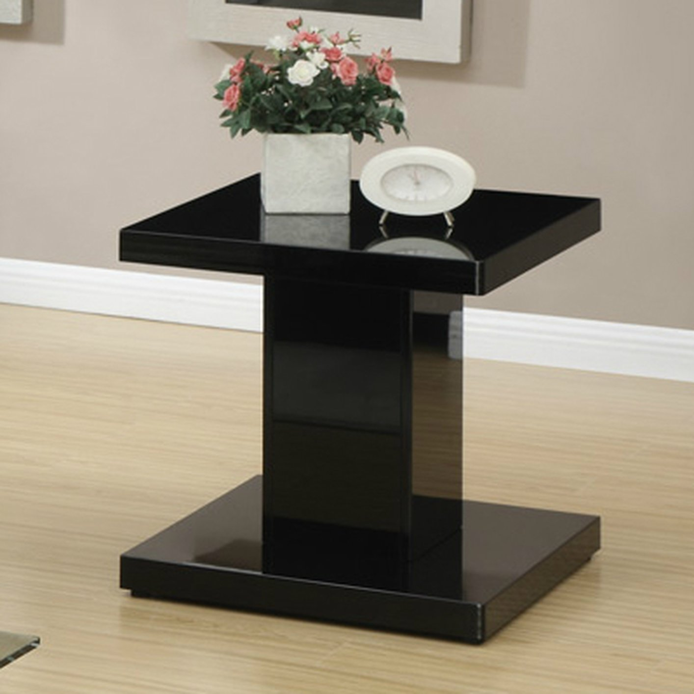 Black wood end table steal a sofa furniture outlet los