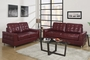 Naomi Red Leather Sofa and Loveseat Set