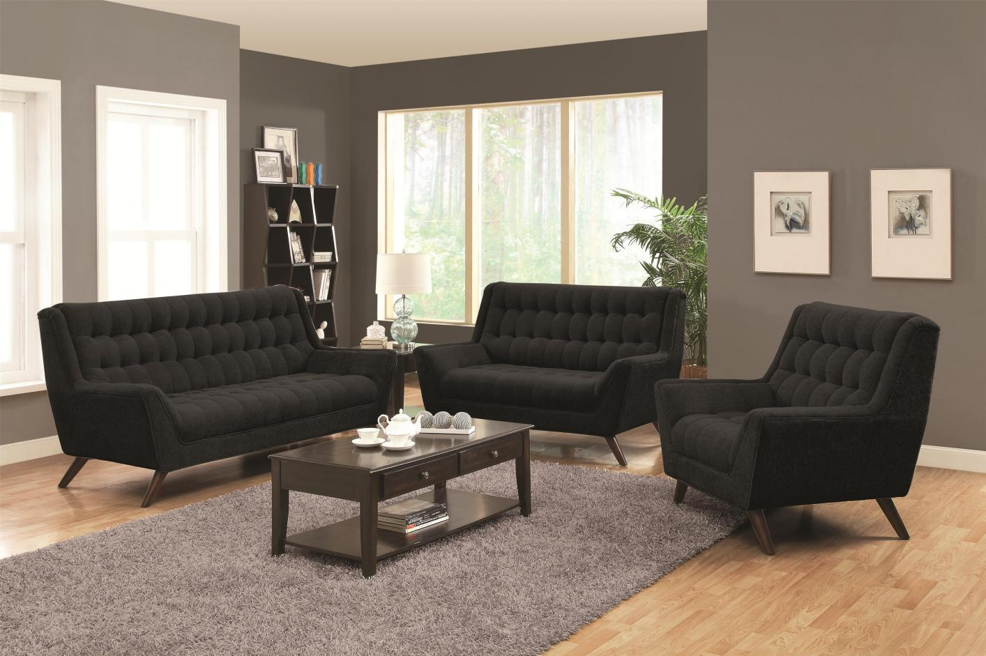 Natalia Black Fabric Sofa Natalia Black Fabric Sofa  Natalia Black Fabric Sofa   Steal A Sofa Furniture Outlet Los  . Fabric Living Room Sets. Home Design Ideas