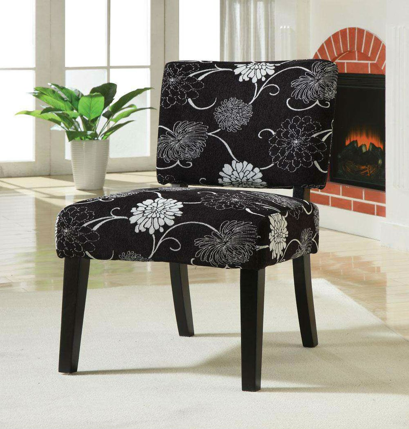 White Fabric Accent Chair Steal A Sofa Furniture Outlet