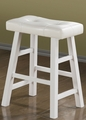 White Wood Stool