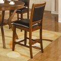 Nelms Deep Brown Wood Pub Stool (Min Qty 2)