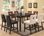 Newbridge Cappuccino Wood And Marble Pub Table Set