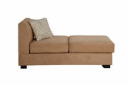 Nia Beige Fabric Chaise Lounge