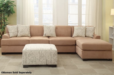 Nia Beige Fabric Sectional Sofa