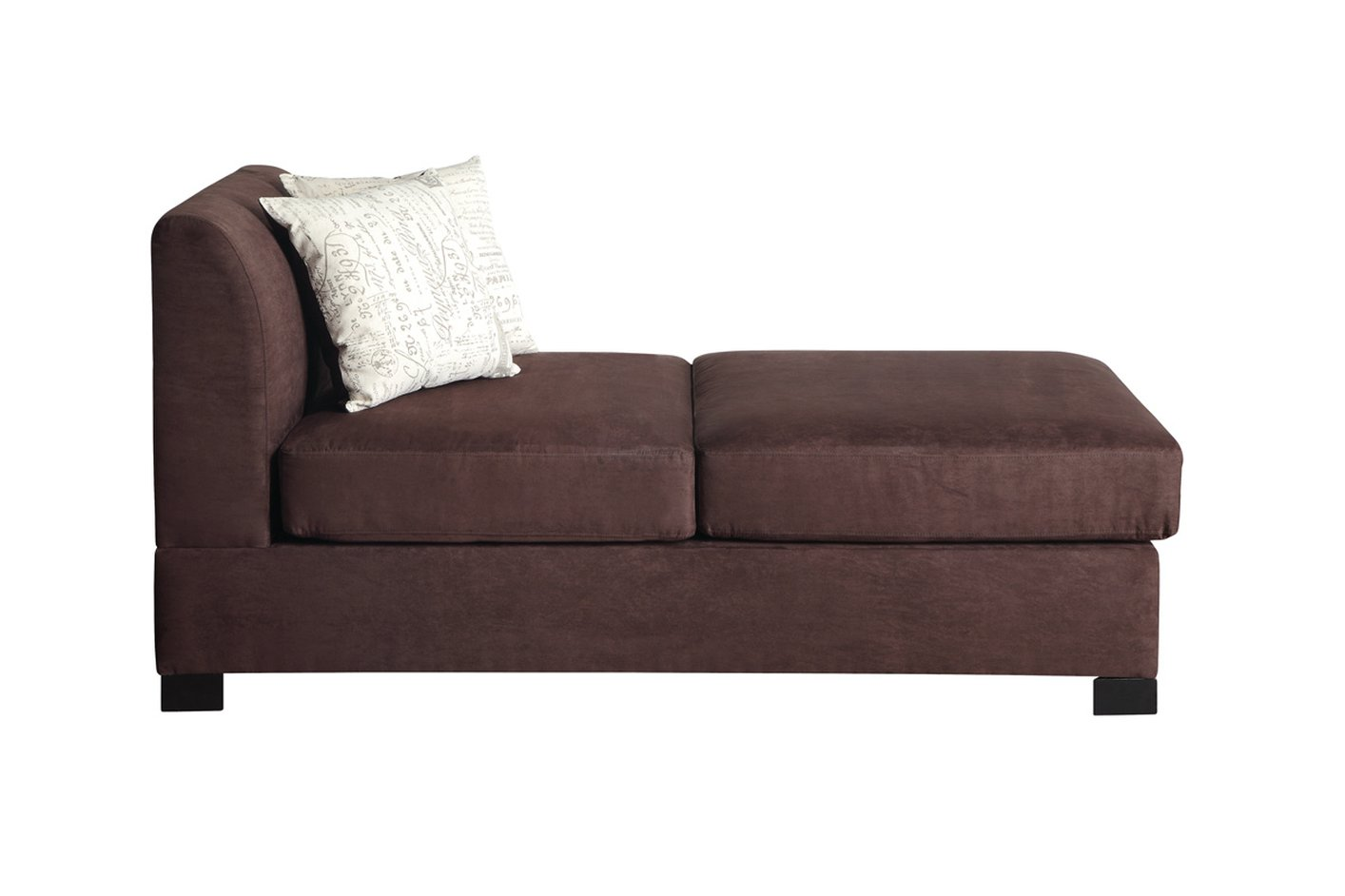 Nia brown fabric chaise lounge steal a sofa furniture for Brown chaise sofa