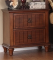 Brown Wood Nightstand