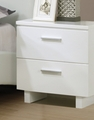White Leather Nightstand