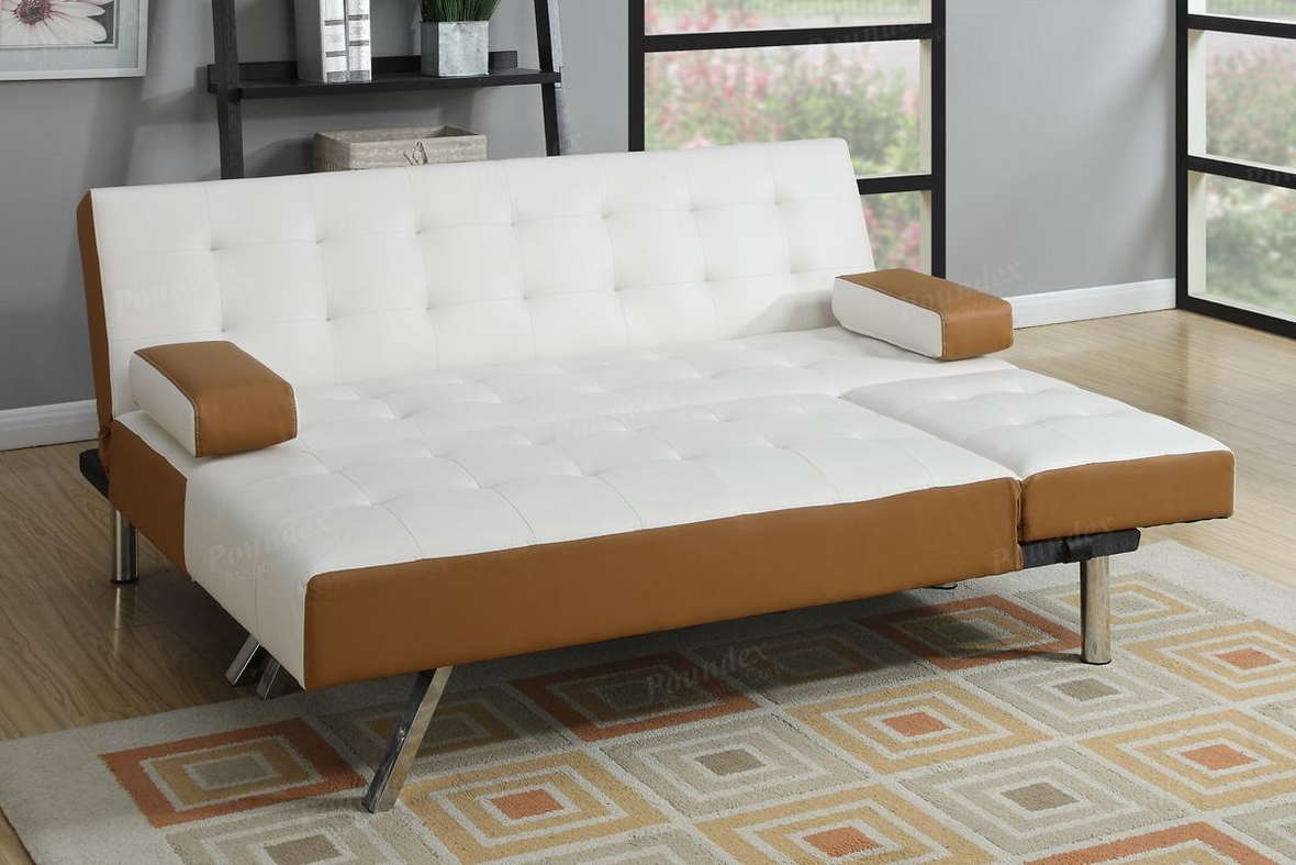 White Leather Sectional Sofa Bed - Steal-A-Sofa Furniture ...