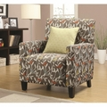 Noella Yellow Fabric Accent Chair