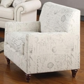 Norah Beige Fabric Chair