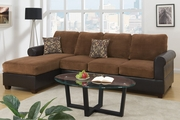 Olin Cocoa Microsuede Sectional Sofa