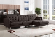 Opus Brown Fabric Sectional Sleeper Sofa