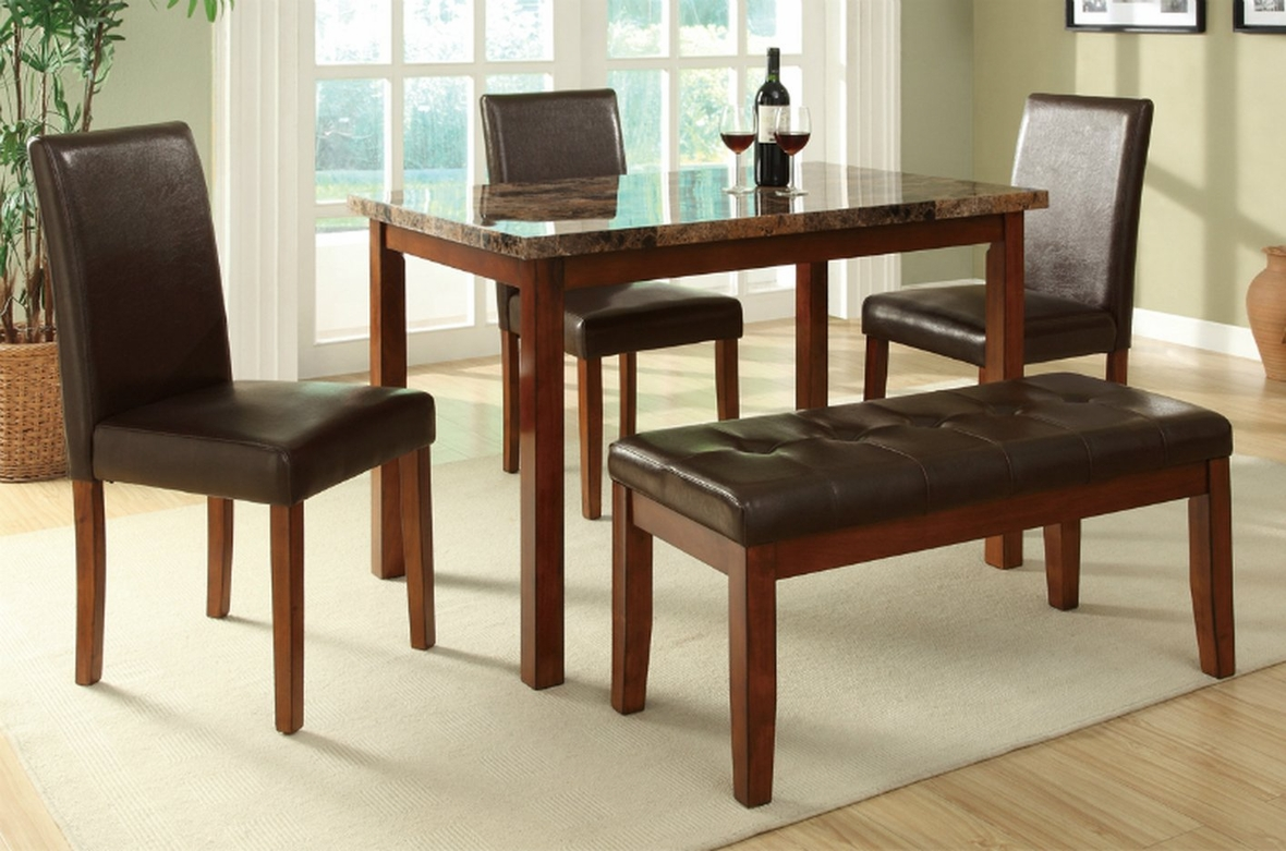 Brown Leather Dining Table and Chair Set Steal A Sofa Furniture
