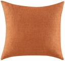 Orange Fabric Accent Pillow