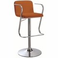 Orange Fabric Bar Stool