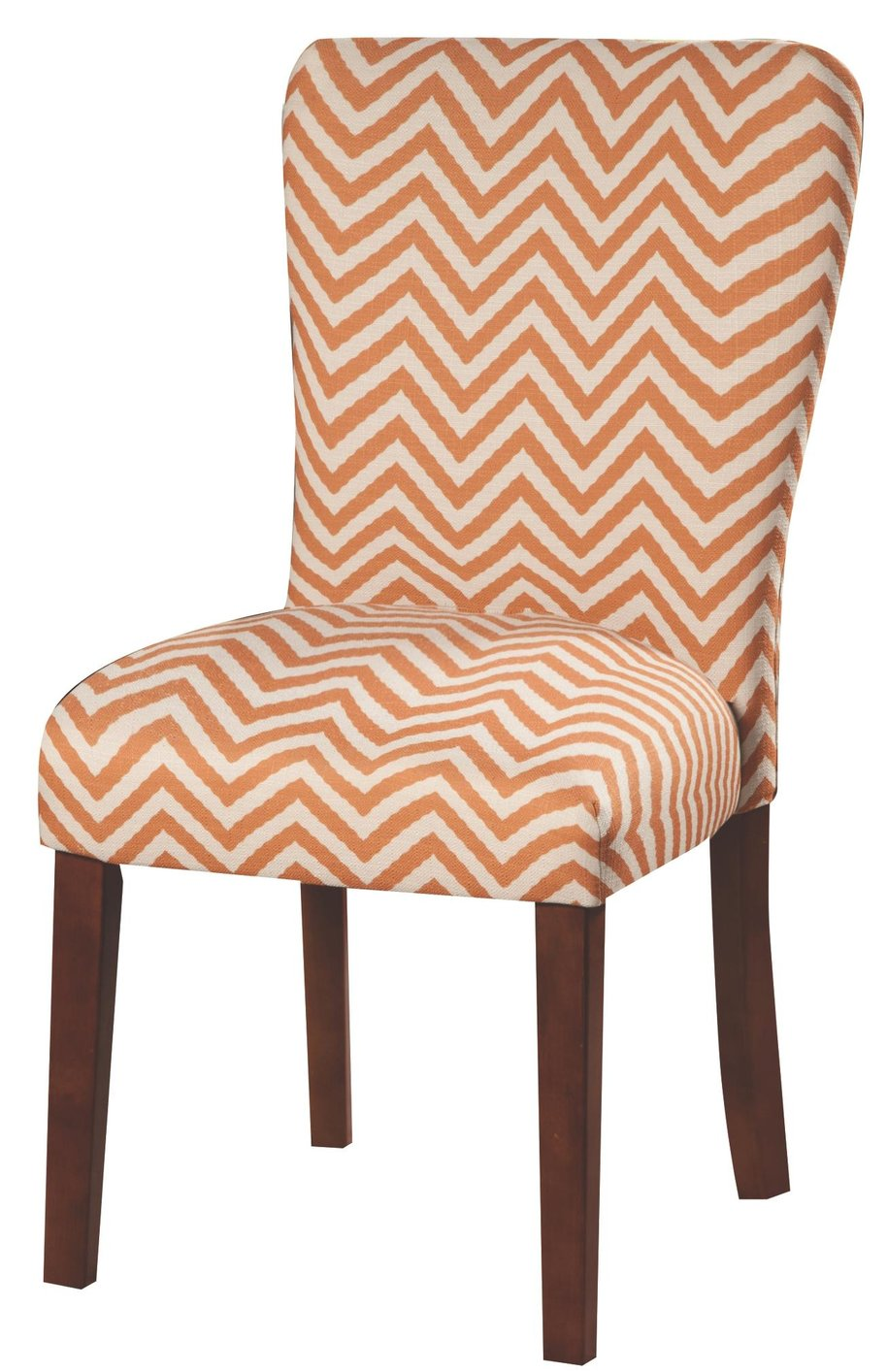 Orange Fabric Dining Chair Steal A Sofa Furniture Outlet
