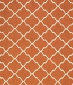 Orange Fabric Floor Rug