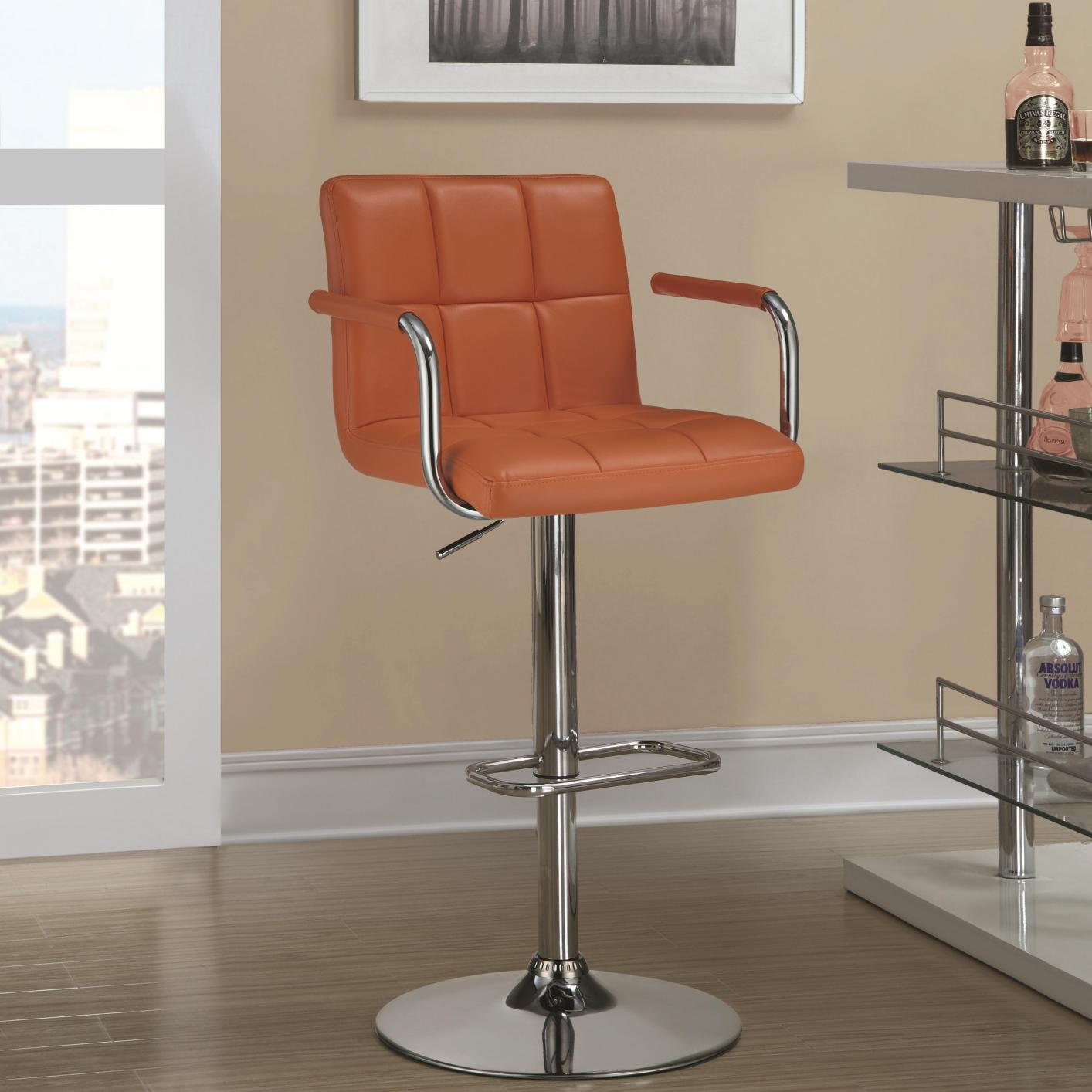 Orange Metal Bar Stool Steal A Sofa Furniture Outlet Los Angeles CA