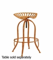 Orange Wood Bar Stool
