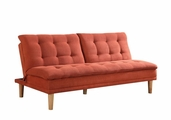 Orange Wood Sofa Bed