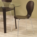 Brown Metal Dining Chair