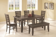 Page Dark Cappuccino Wood Dining Table Set