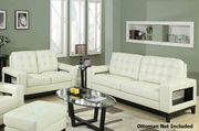 Paige Cream Sofa and Loveseat Set