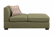 Green Fabric Chaise Lounge
