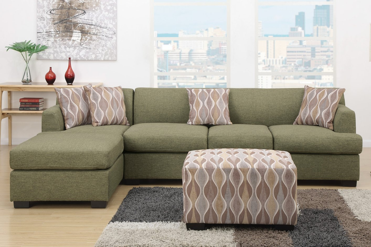 Montreal Iv Green Fabric Sofa Steal A Sofa Furniture
