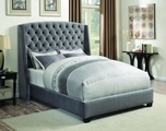 Pissarro Grey Fabric Bed