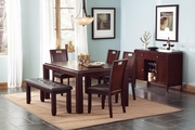 Prewitt Deep Espresso Wood Dining Table Set