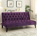 Purple Fabric Futon