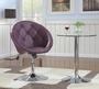 Purple Leather Swivel Chair