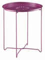 Purple Metal Snack Table