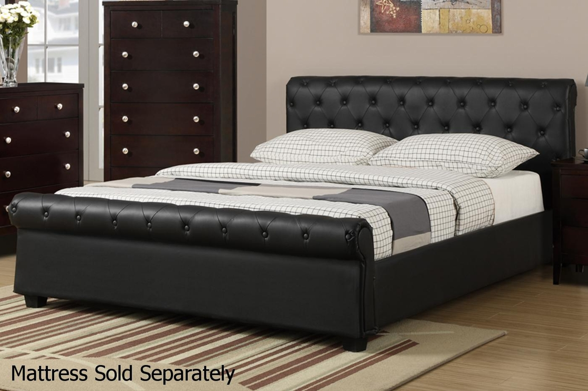 black leather bed  stealasofa furniture outlet los angeles ca - in stock