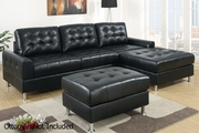 Naomi Black Metal Sectional Sofa