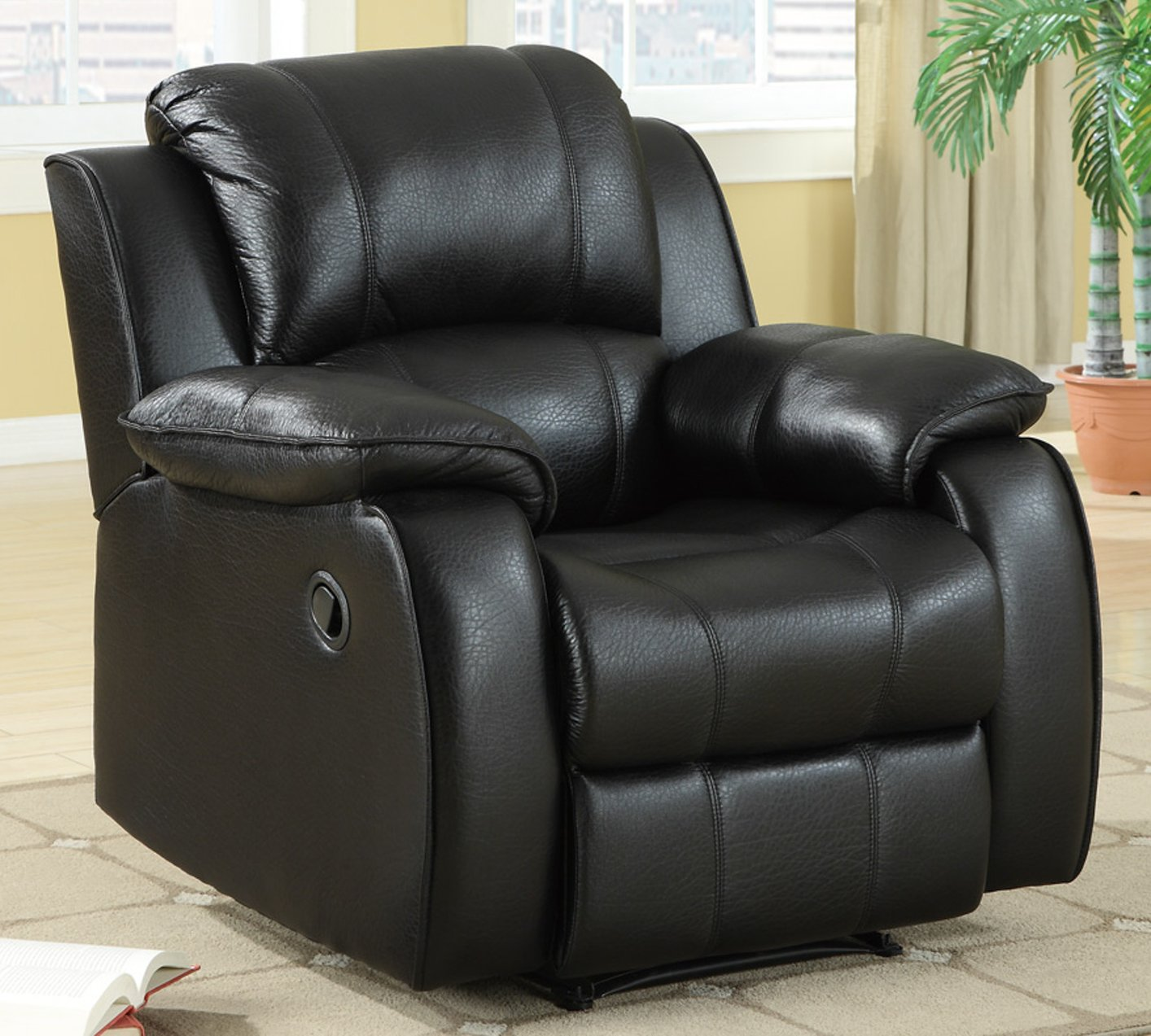 Black Leather Kitchen Chairs: Steal-A-Sofa Furniture Outlet Los