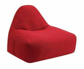 Red Fabric Armless Chair