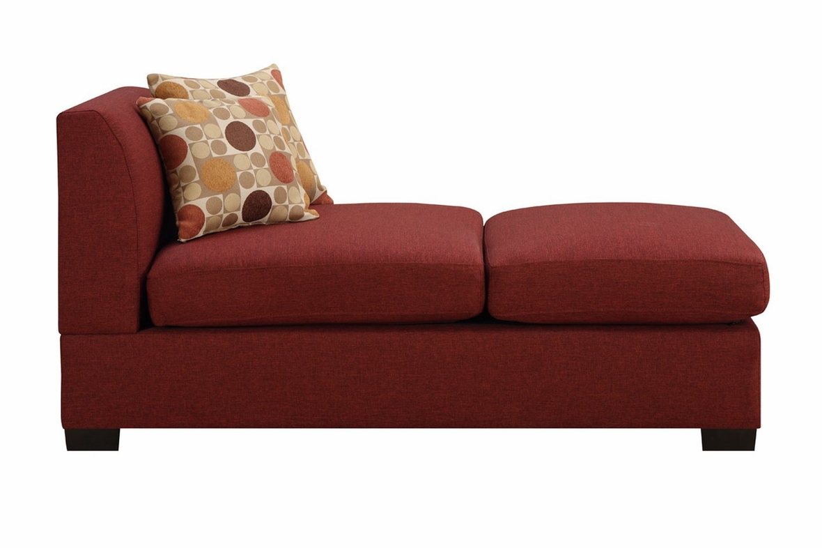 Red Chaise Lounge Sofa Leather Sectional Sofa With Chaise